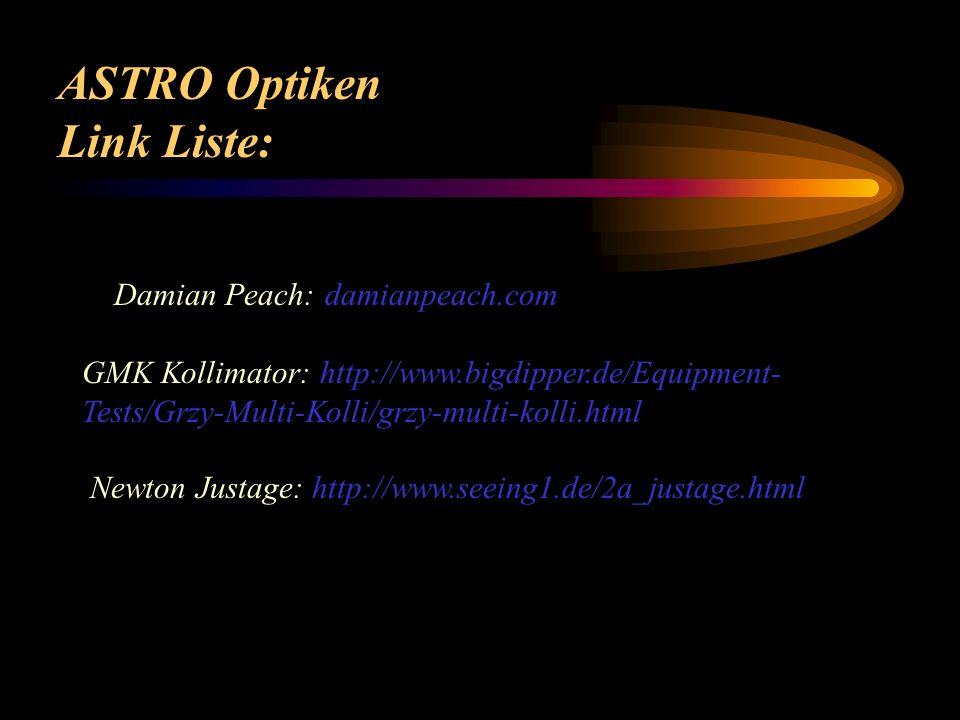 ASTRO Optiken Link Liste: Damian Peach: damianpeach.com