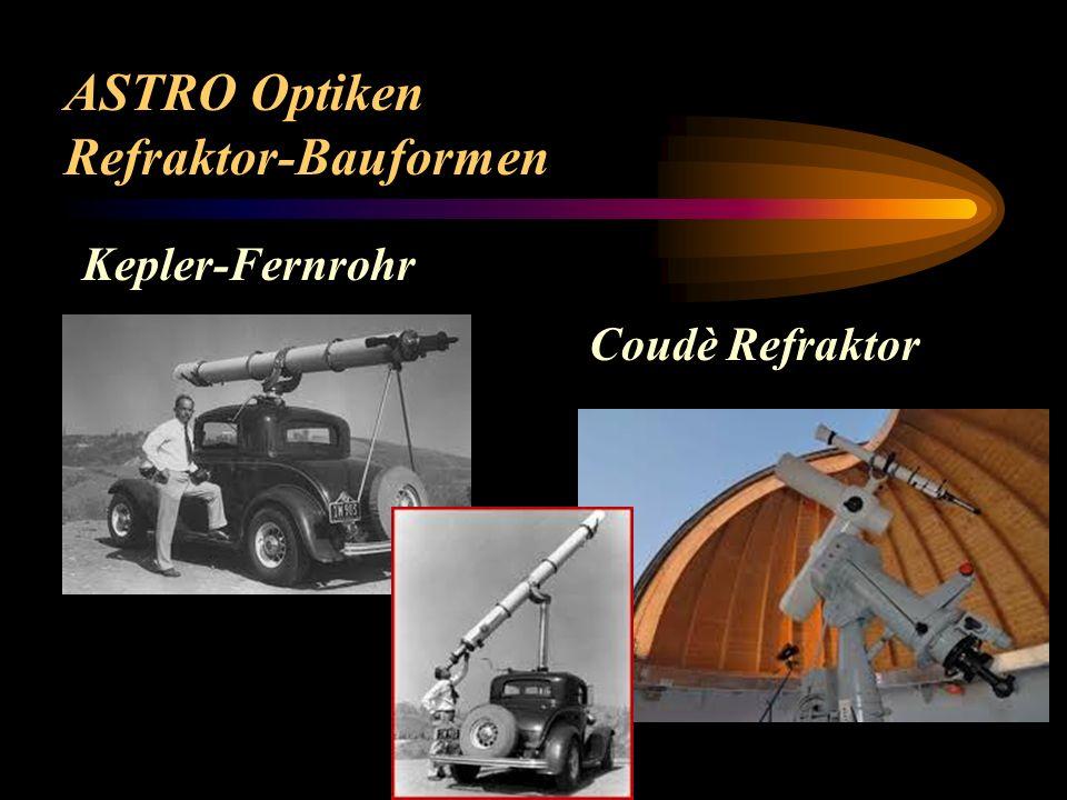 ASTRO Optiken Refraktor-Bauformen Kepler-Fernrohr Coudè Refraktor