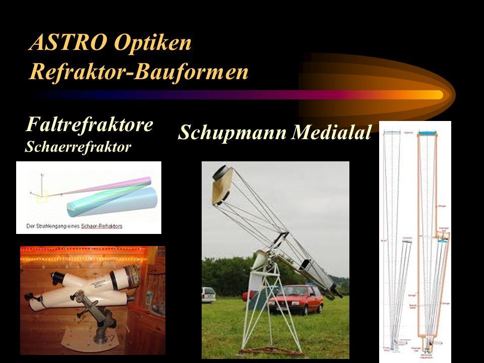 ASTRO Optiken Refraktor-Bauformen Faltrefraktore Schupmann Medialal