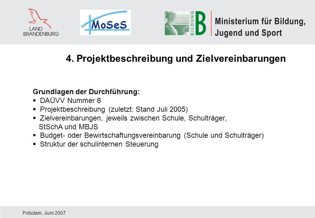 4. Projektbeschreibung und Zielvereinbarungen