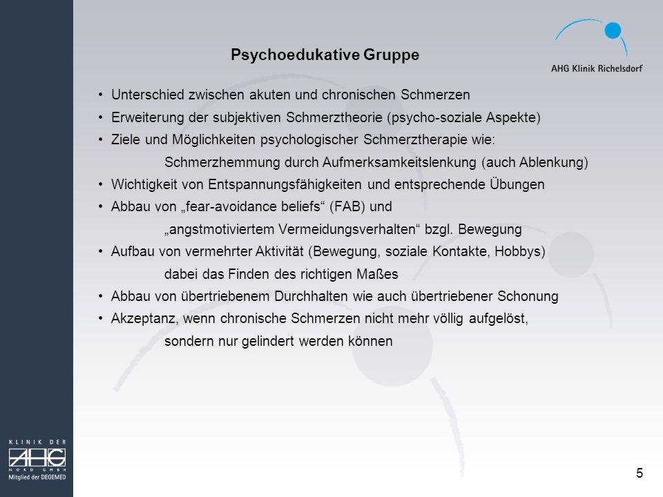 Psychoedukative Gruppe