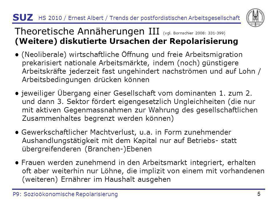 Theoretische Annäherungen III (vgl. Bornschier 2008: 331-399)