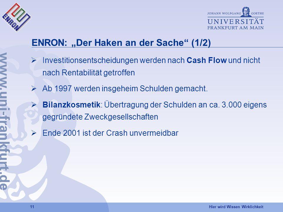 """ENRON: """"Der Haken an der Sache (1/2)"""
