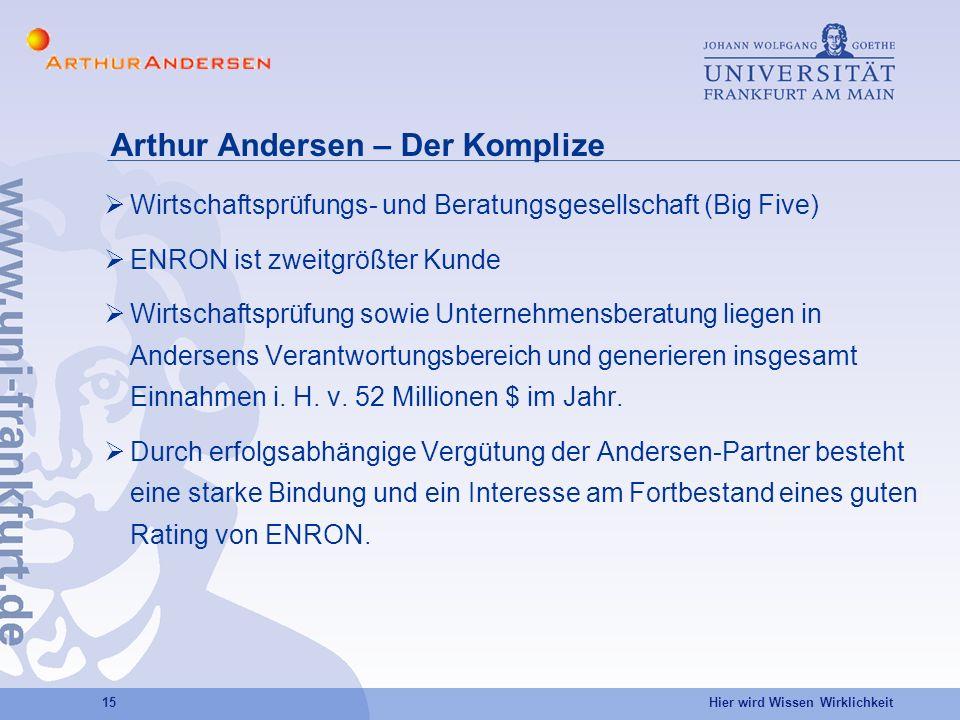 Arthur Andersen – Der Komplize