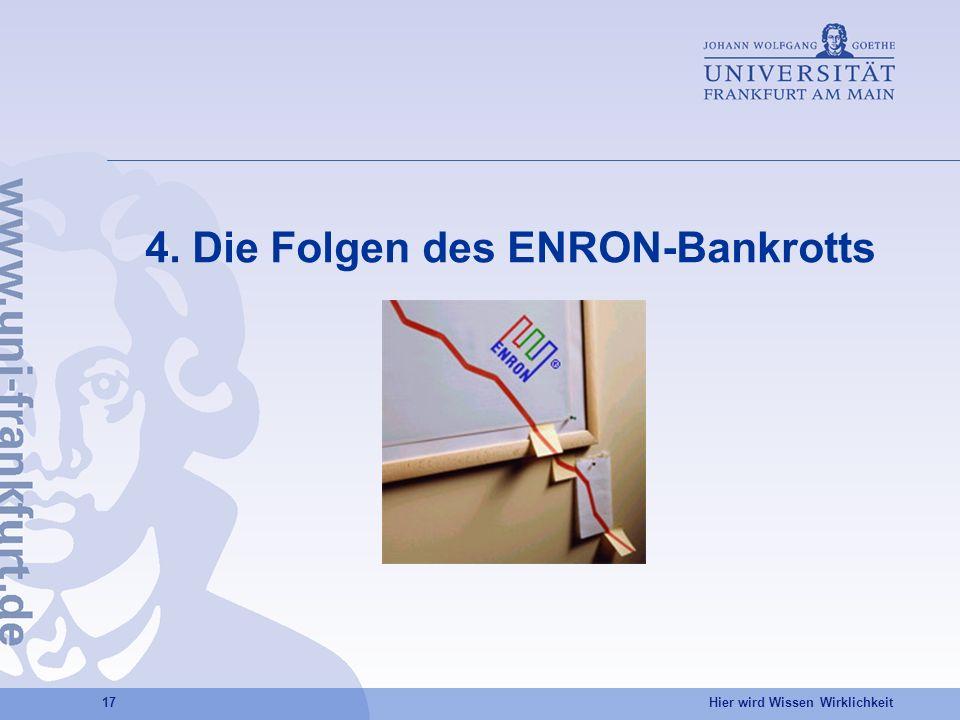4. Die Folgen des ENRON-Bankrotts