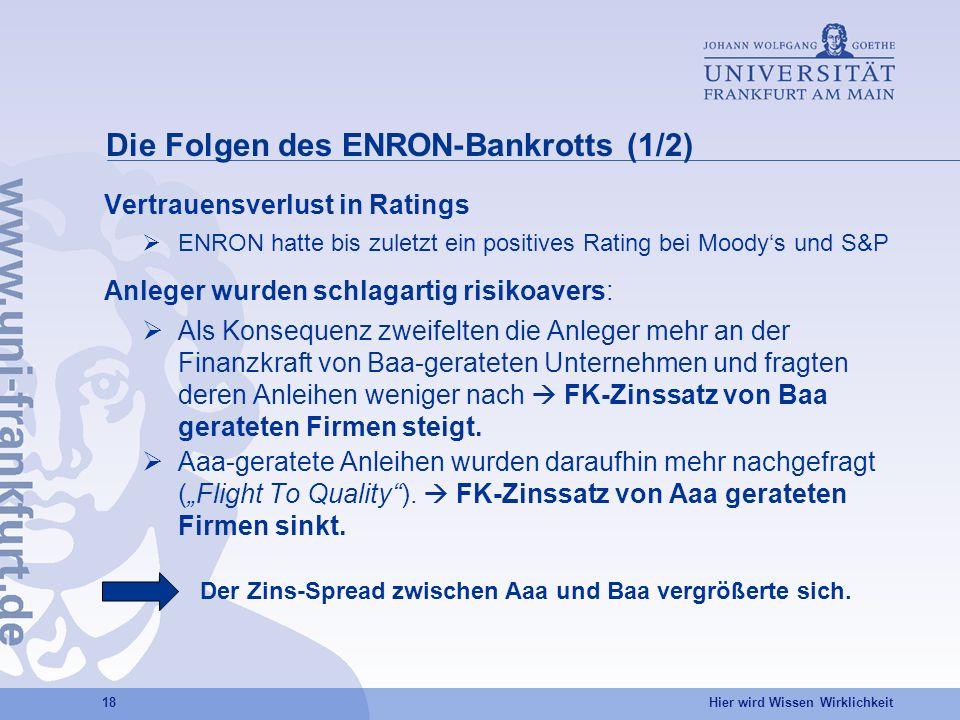 Die Folgen des ENRON-Bankrotts (1/2)