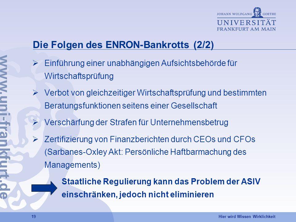 Die Folgen des ENRON-Bankrotts (2/2)