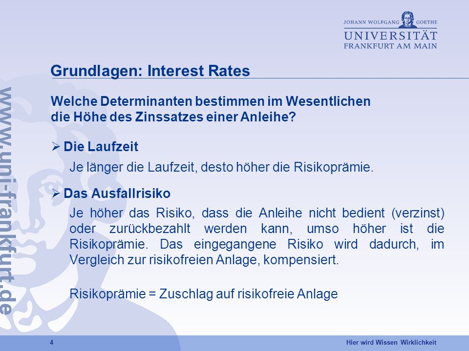 Grundlagen: Interest Rates