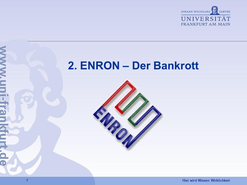 2. ENRON – Der Bankrott
