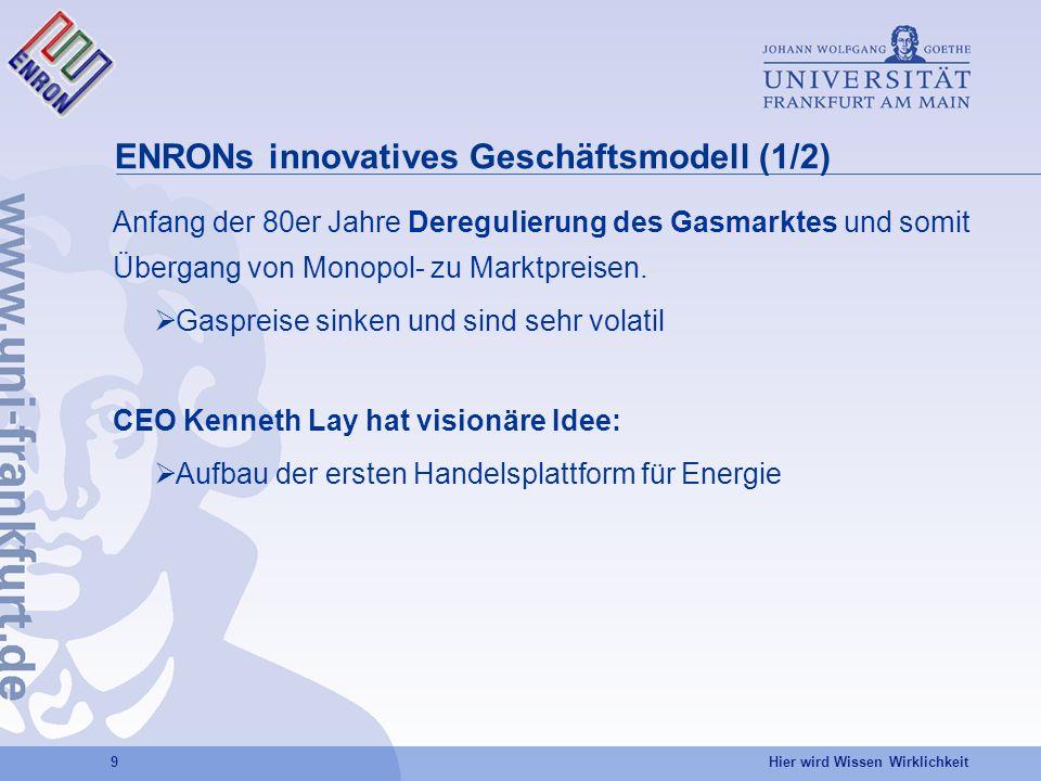 ENRONs innovatives Geschäftsmodell (1/2)