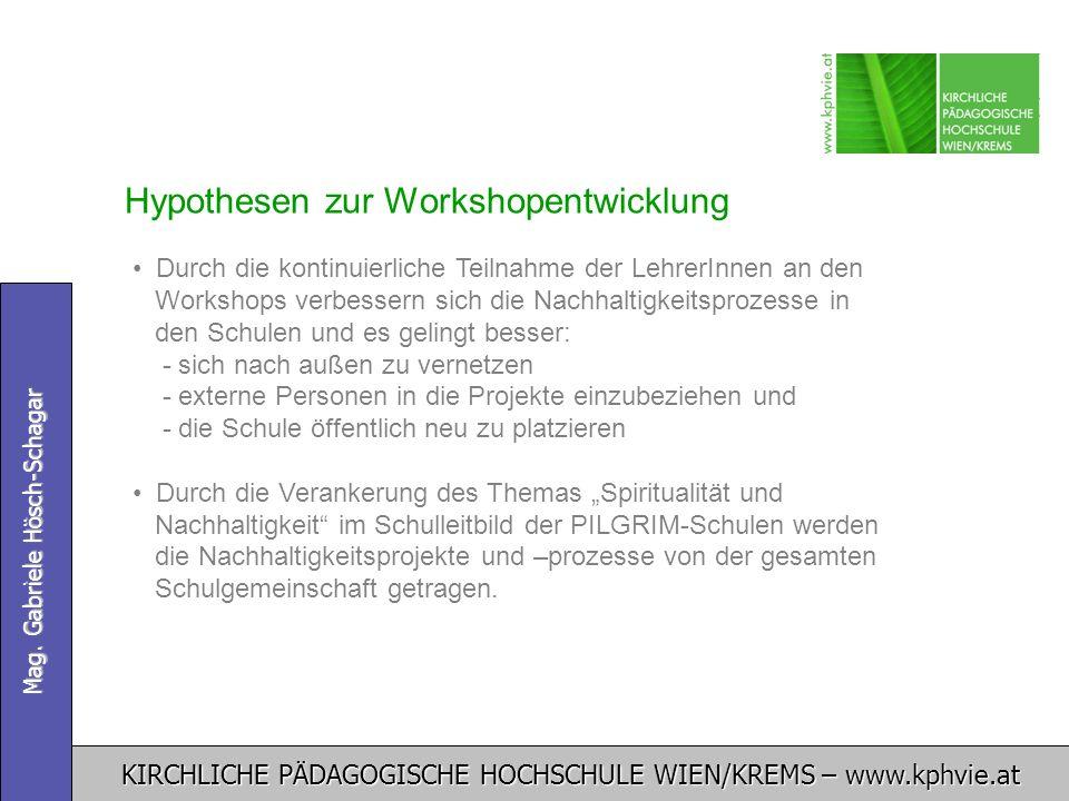 Hypothesen zur Workshopentwicklung