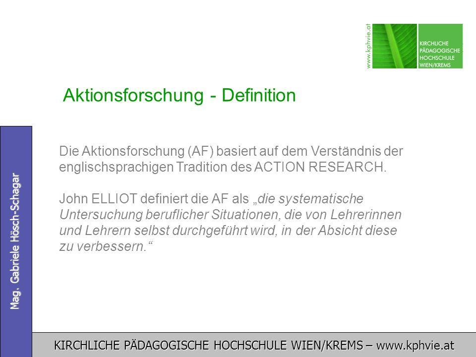 Aktionsforschung - Definition