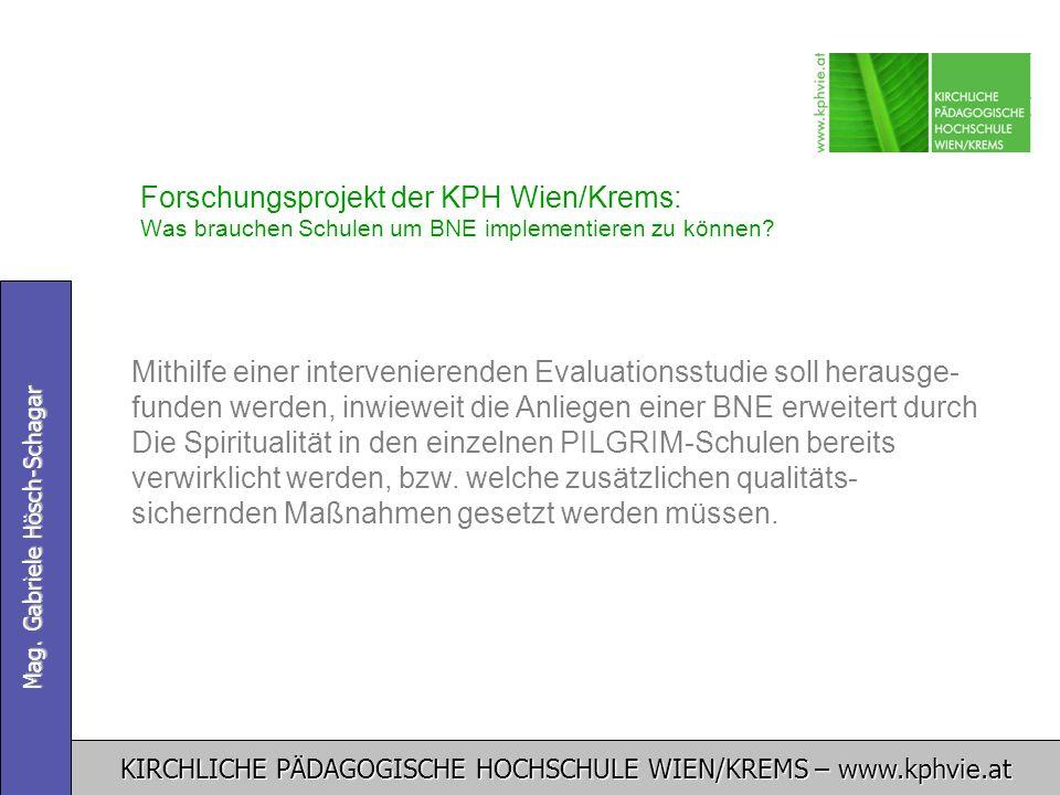 Forschungsprojekt der KPH Wien/Krems: