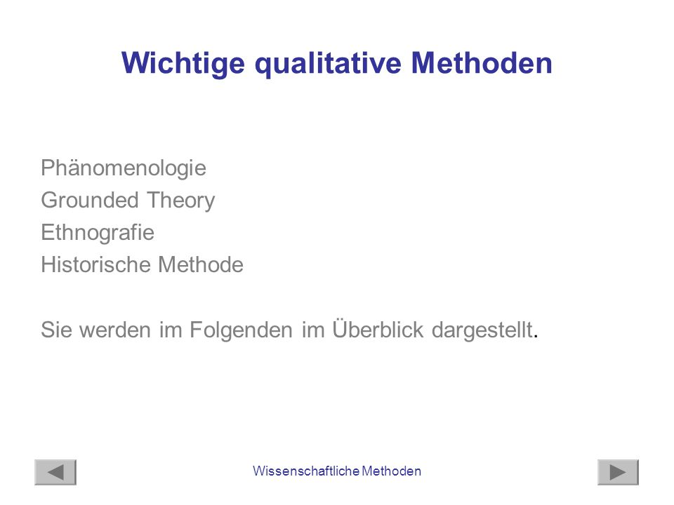 Wichtige qualitative Methoden
