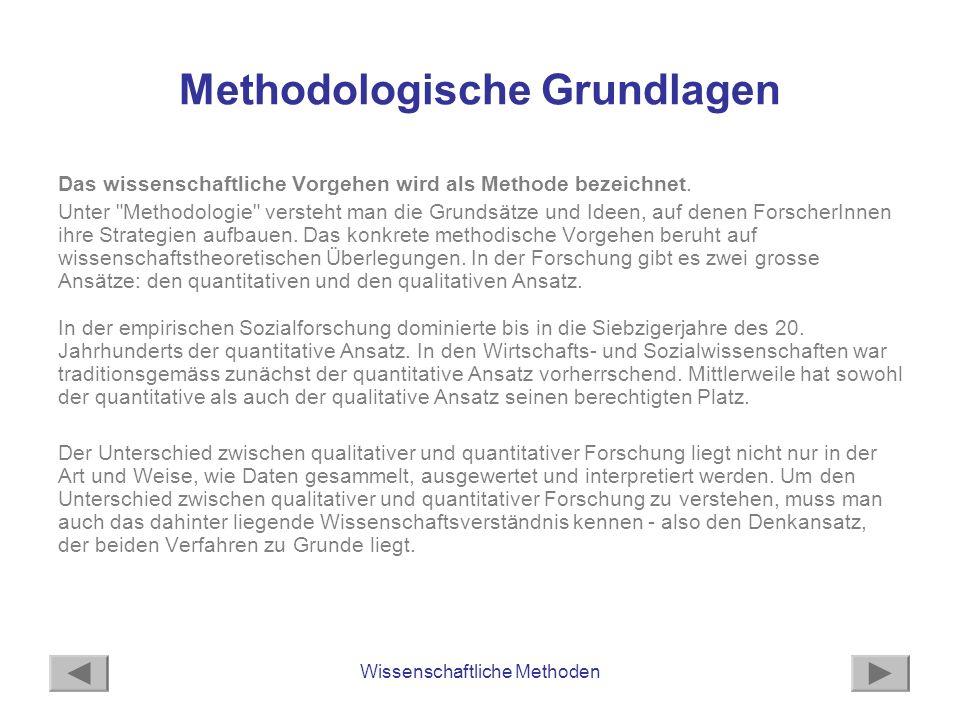 Methodologische Grundlagen