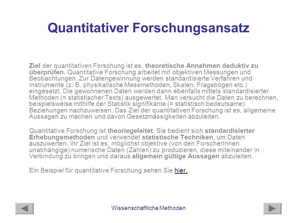 Quantitativer Forschungsansatz