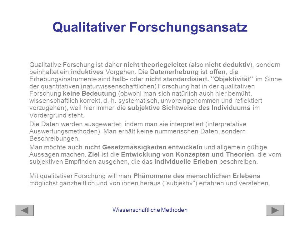 Qualitativer Forschungsansatz