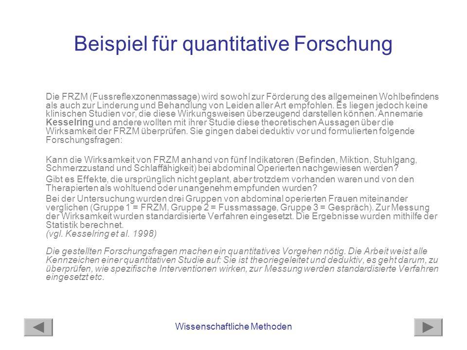 Beispiel für quantitative Forschung