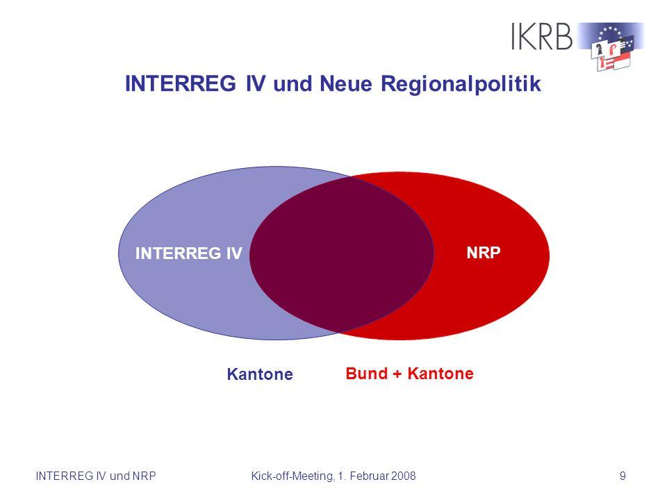 INTERREG IV und Neue Regionalpolitik