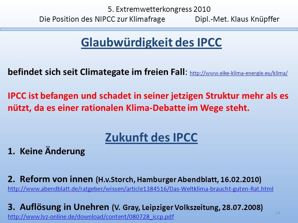 Glaubwürdigkeit des IPCC