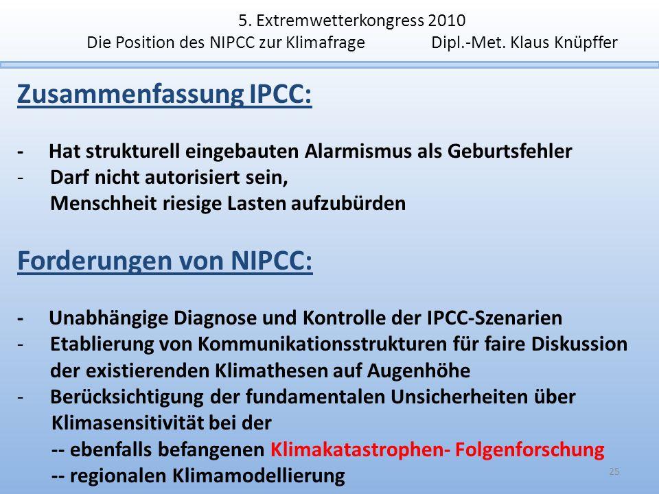 Zusammenfassung IPCC: