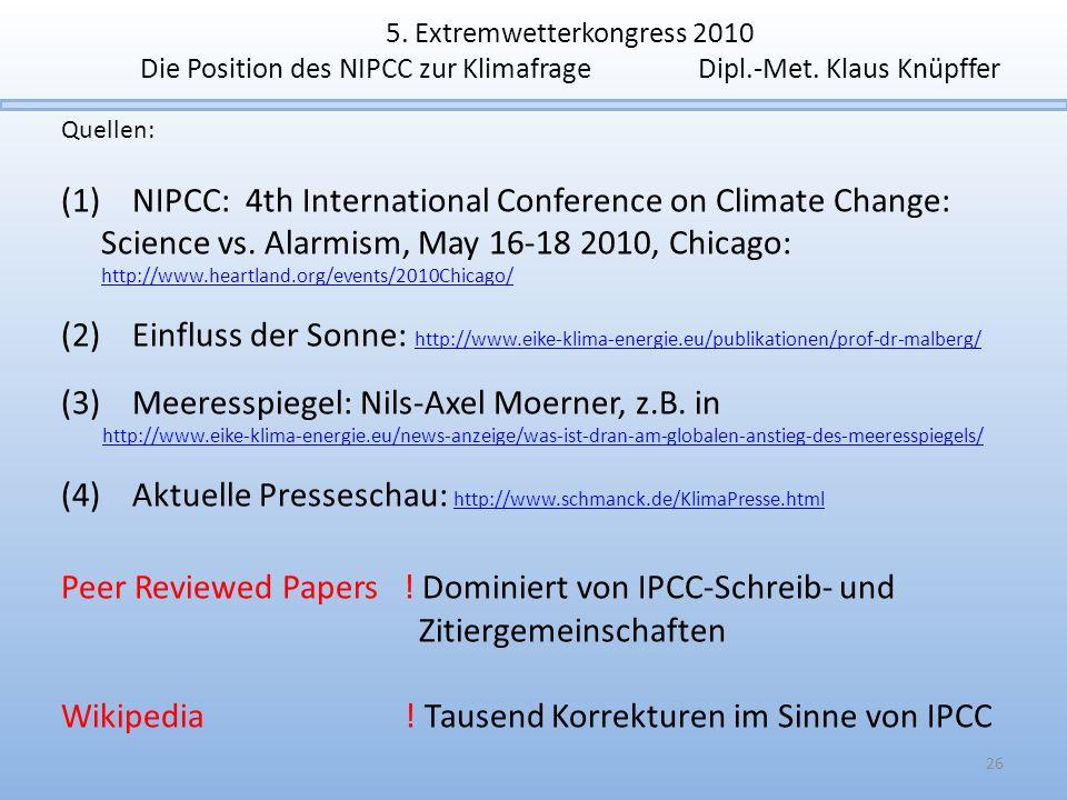 (3) Meeresspiegel: Nils-Axel Moerner, z.B. in
