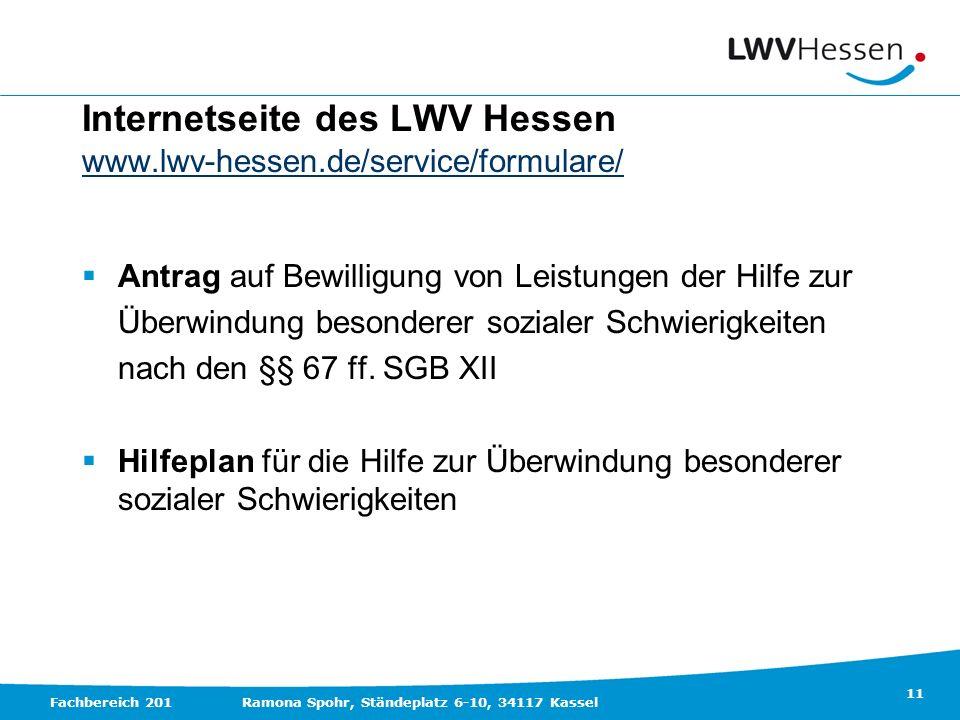Internetseite des LWV Hessen