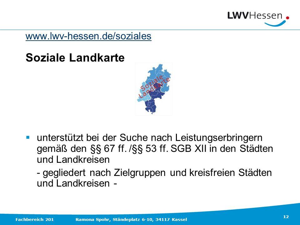 Soziale Landkarte www.lwv-hessen.de/soziales