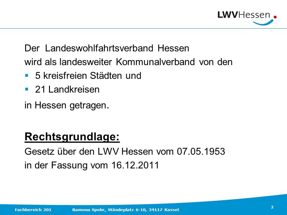 Rechtsgrundlage: Der Landeswohlfahrtsverband Hessen