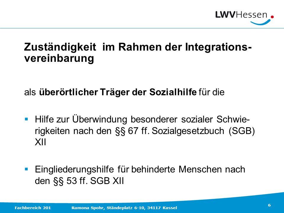 Zuständigkeit im Rahmen der Integrations- vereinbarung