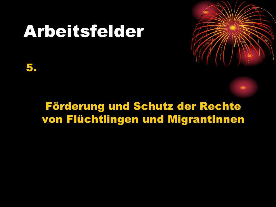 Förderung und Schutz der Rechte von Flüchtlingen und MigrantInnen