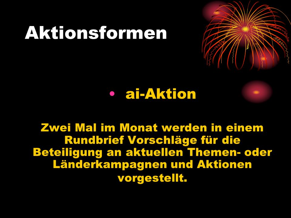 Aktionsformen ai-Aktion