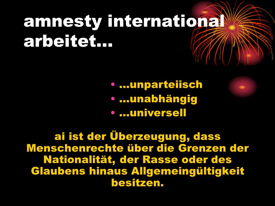 amnesty international arbeitet…