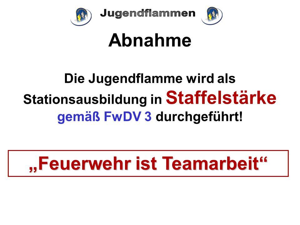 """""""Feuerwehr ist Teamarbeit"""