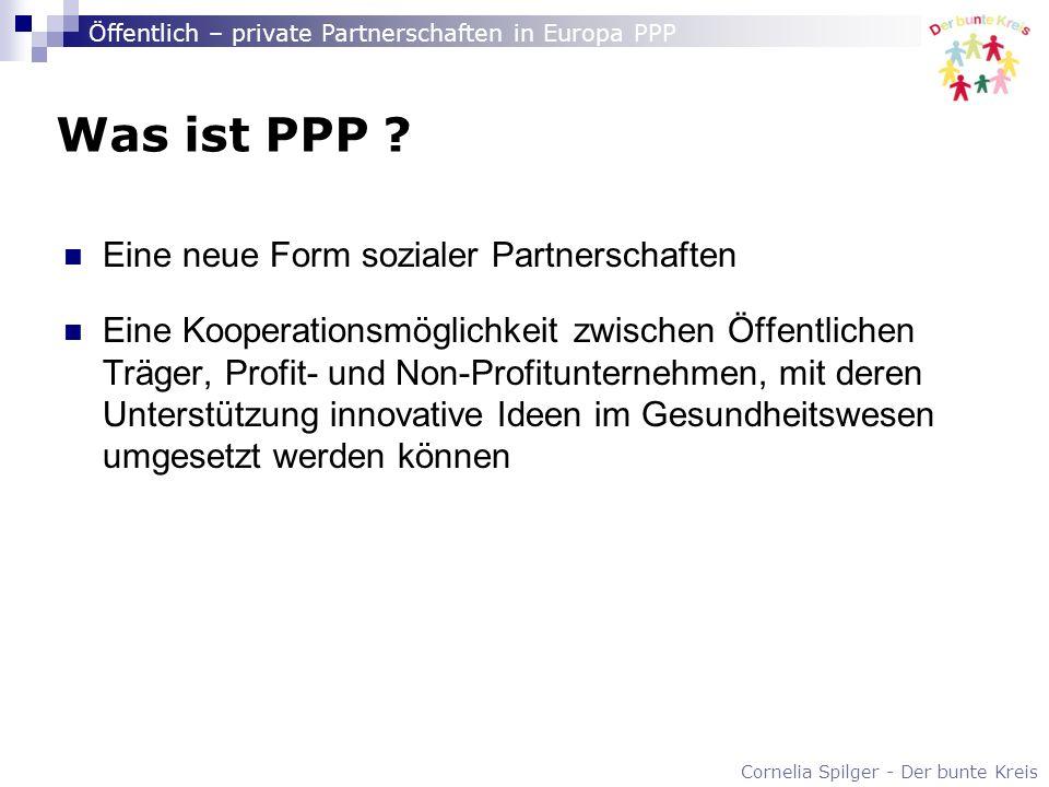 Was ist PPP Eine neue Form sozialer Partnerschaften