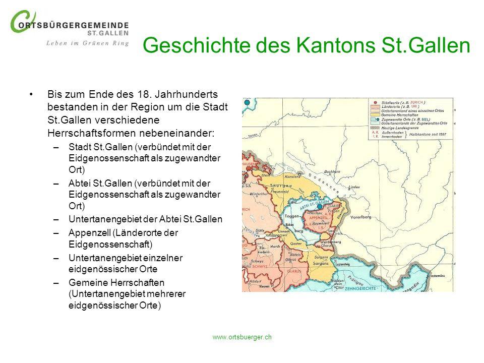 Geschichte des Kantons St.Gallen