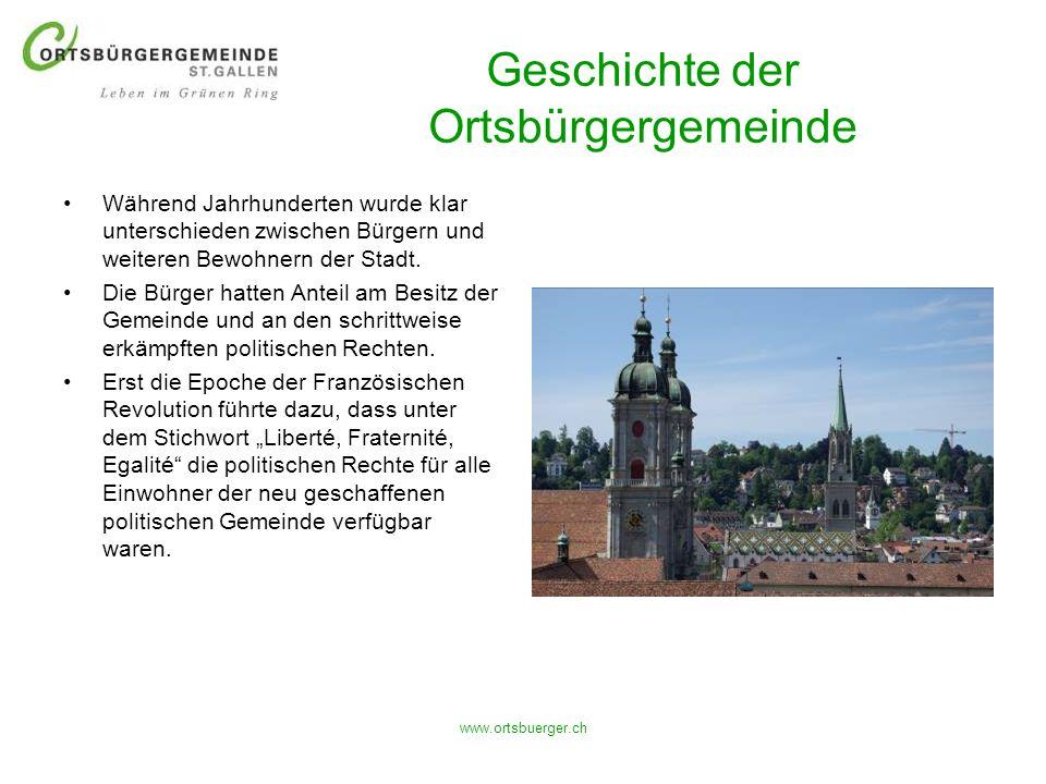 Geschichte der Ortsbürgergemeinde