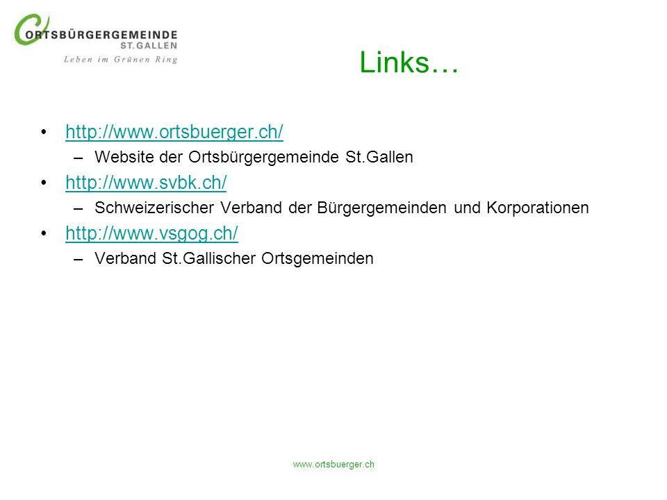 Links… http://www.ortsbuerger.ch/ http://www.svbk.ch/