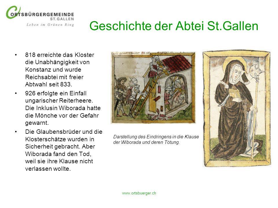 Geschichte der Abtei St.Gallen