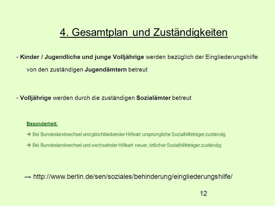 4. Gesamtplan und Zuständigkeiten