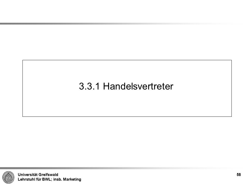 3.3.1 Handelsvertreter
