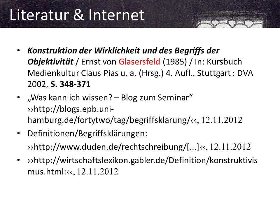 Literatur & Internet