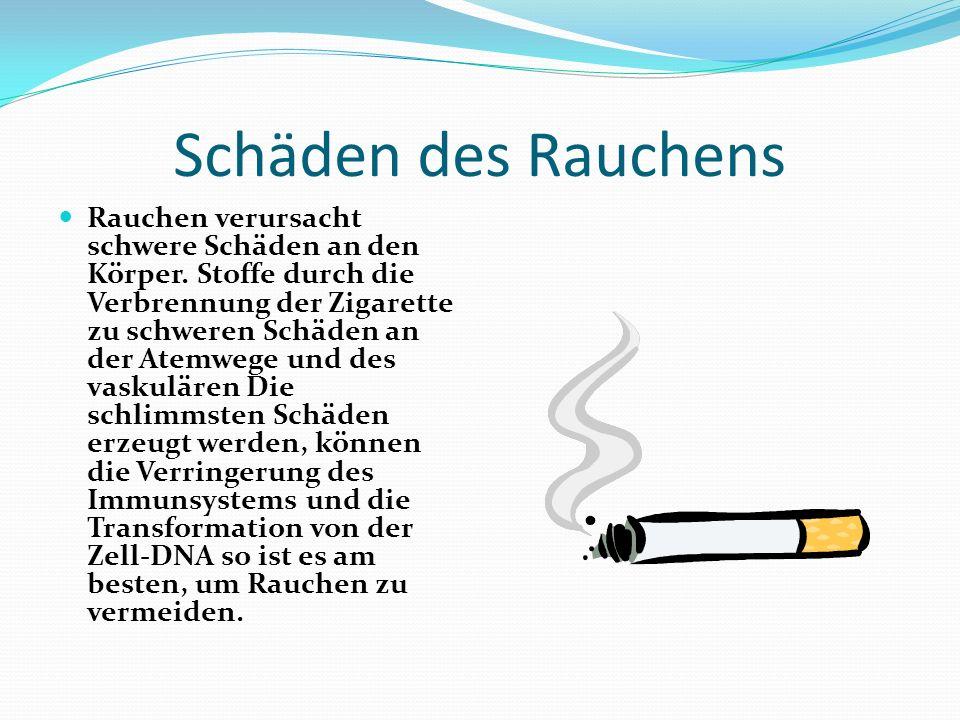 Schäden des Rauchens