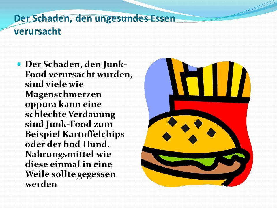 Der Schaden, den ungesundes Essen verursacht