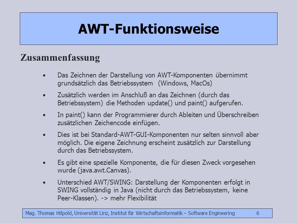AWT-Funktionsweise Zusammenfassung