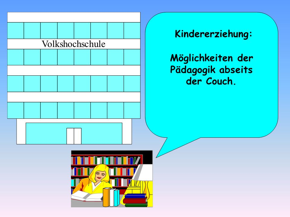 Möglichkeiten der Pädagogik abseits der Couch.