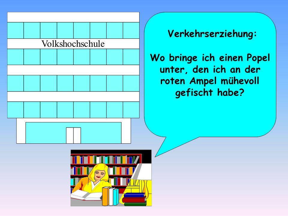 Verkehrserziehung: Volkshochschule.
