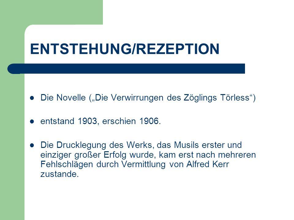 ENTSTEHUNG/REZEPTION