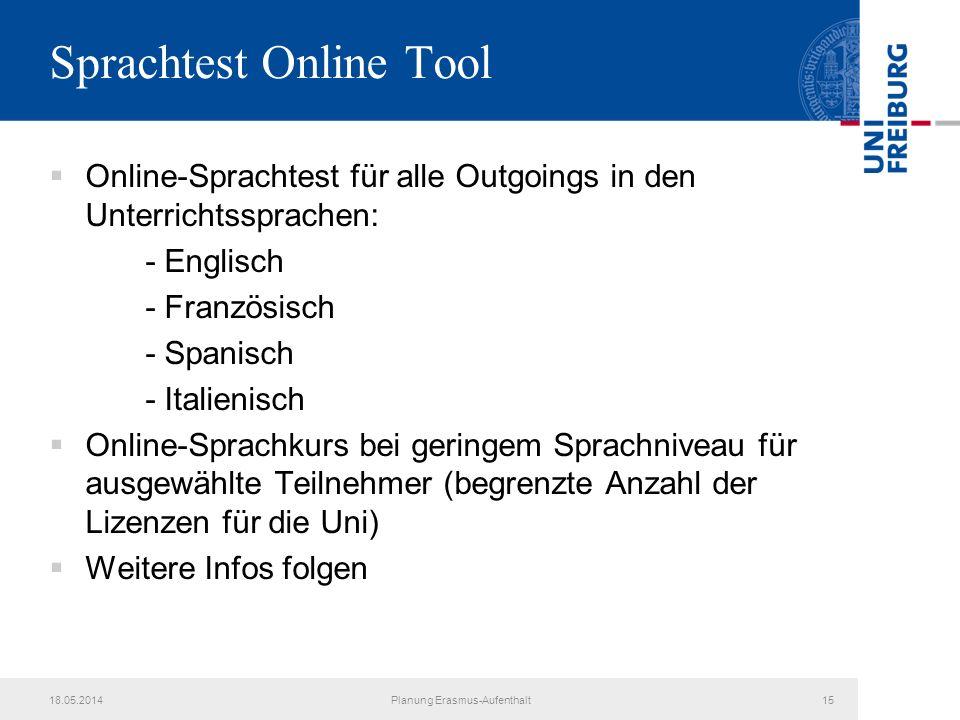 Sprachtest Online Tool