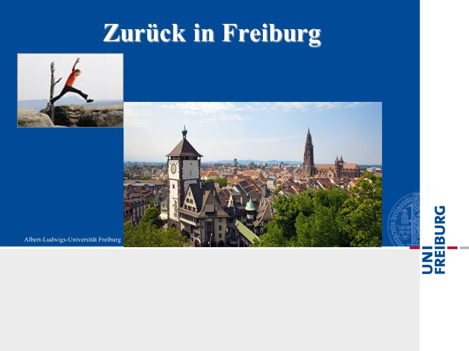 Zurück in Freiburg